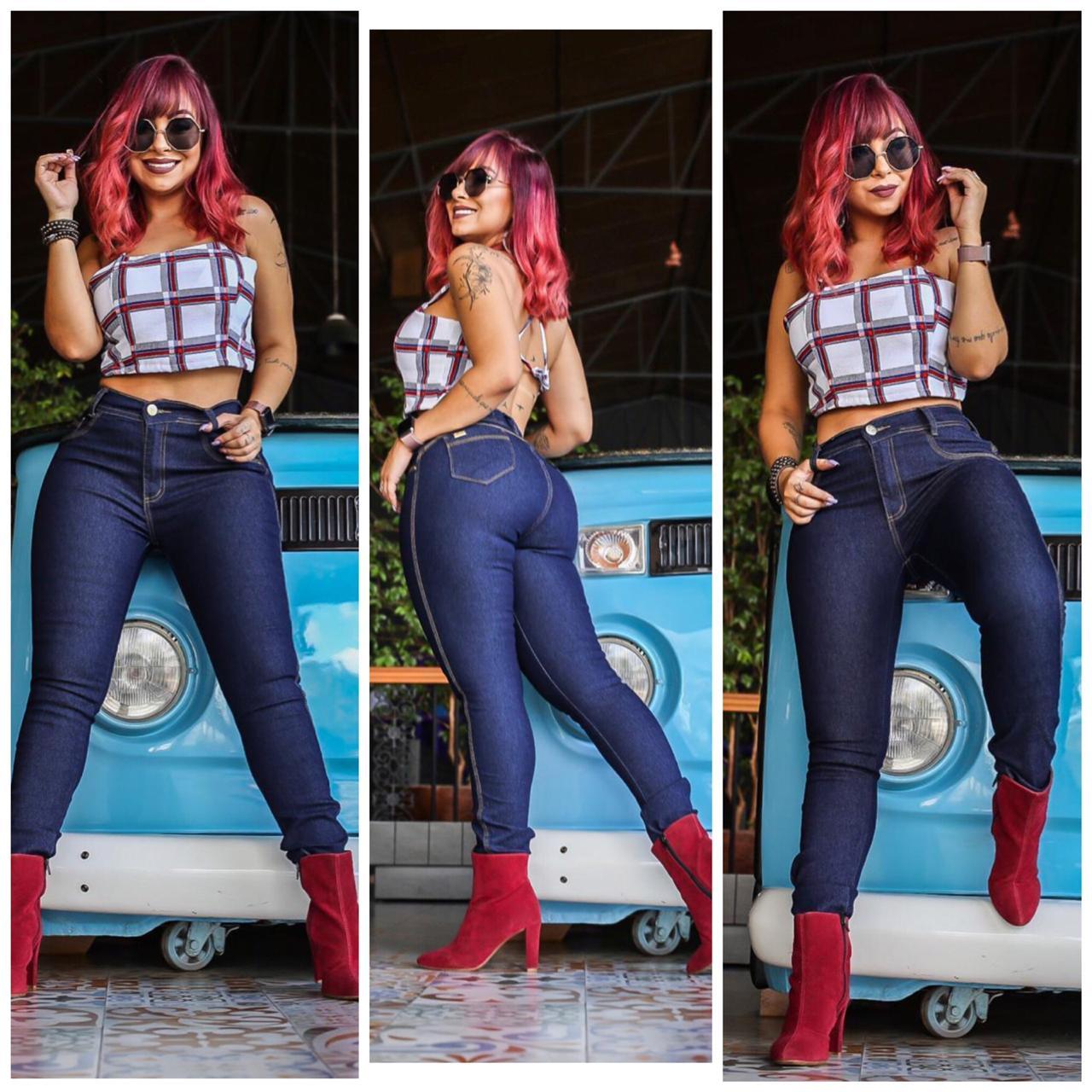 calça jeans skiny tradicional