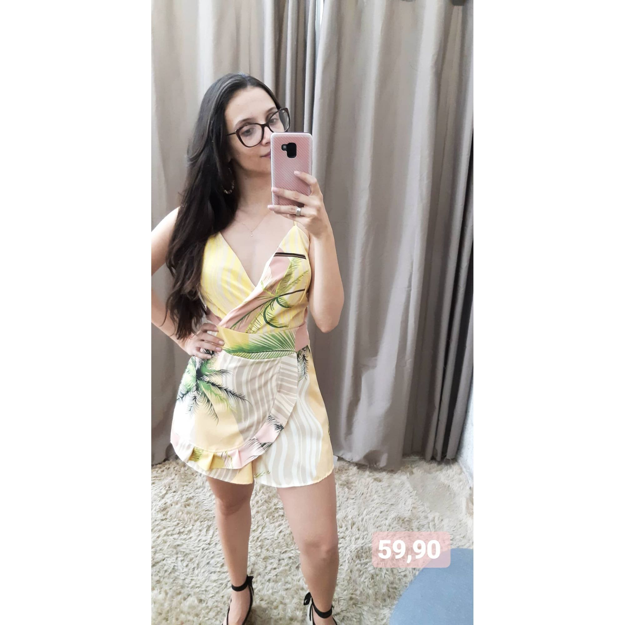Macaquinho Floral  - BE HAPPY MODA FEMININA