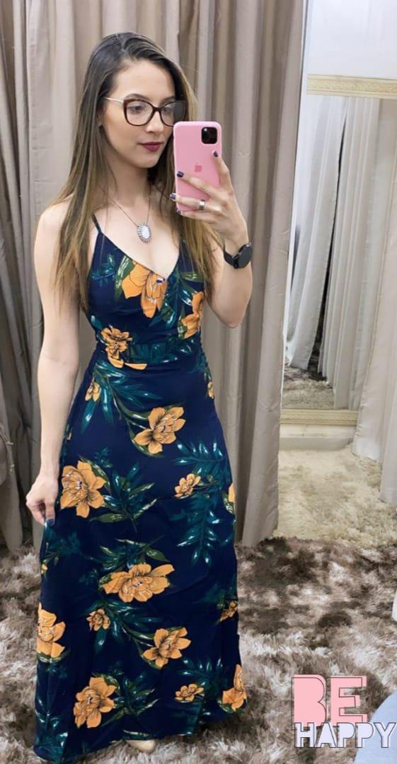 Vestido  Viscose Floral