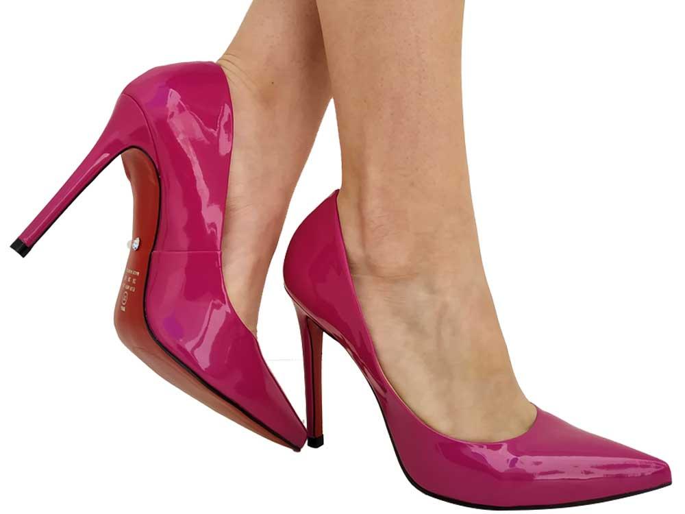 Scarpin verniz pink 11cm Cód.:602