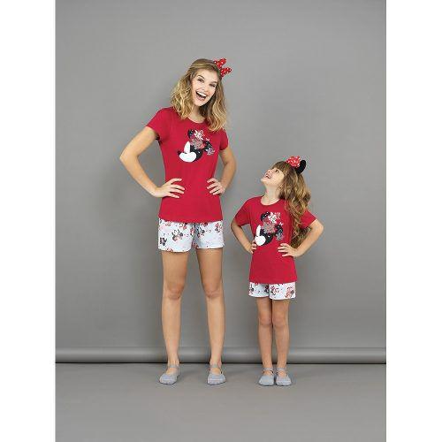 Pijama Infantil Short Doll Algodão Minnie Filha Lupo
