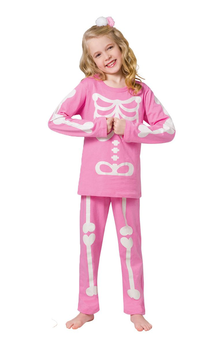 Pijama menina infantil esqueleto inverno veggi