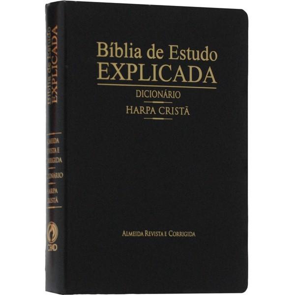 Bíblia de estudo Explicada - Dicionário - Harpa Cristã