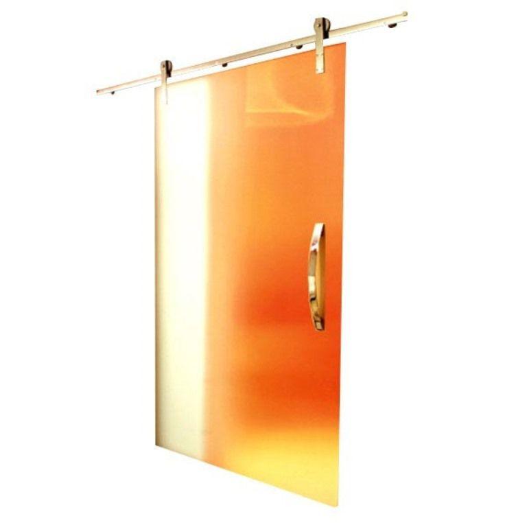 Kit Porta de Correr Vidro 2m até 50kg - Aço Inox Polido ou Escovado