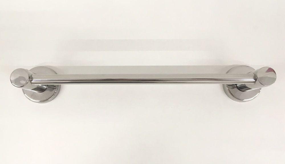Porta Toalha em Aço Inox 304 Polido - 30 cm