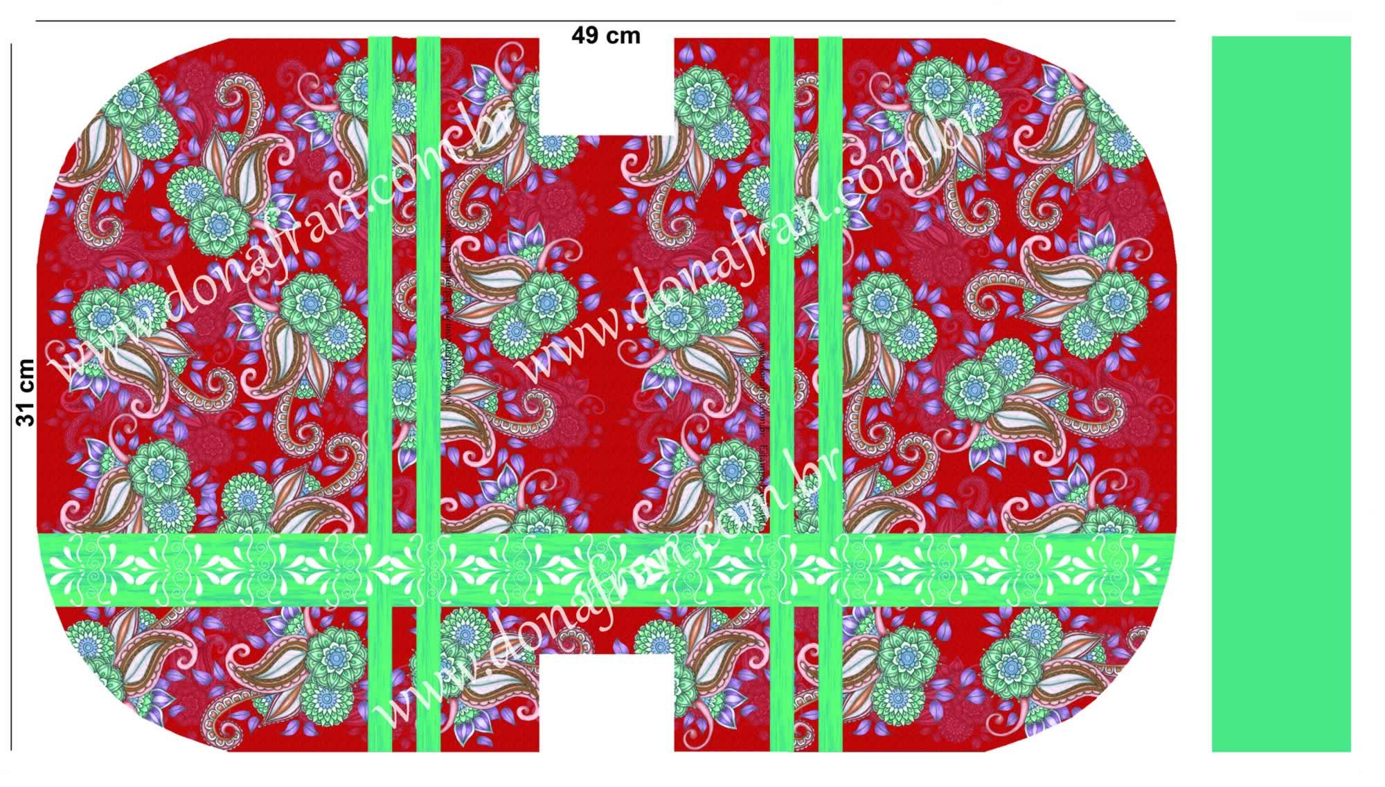 Painel Necessaire Modelo 4 Estampa D GRANDE