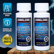 Kirkland Minoxidil 5% - Kit 2 Frascos + Aplicador Spray (PRONTA ENTREGA)