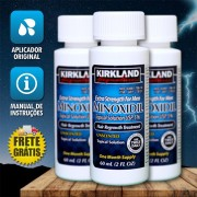 Kirkland Minoxidil 5% - Kit 3 Frascos + Aplicador Original (PRONTA ENTREGA)