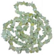 Colar De Cascalho De Pedra Jade Natural