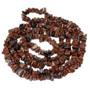 Colar De Cascalho De Pedra Obsidiana Tigril Natural