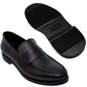 Sapato Masculino Penny Loafer  Cor Café Sola de Borracha 900MCAF