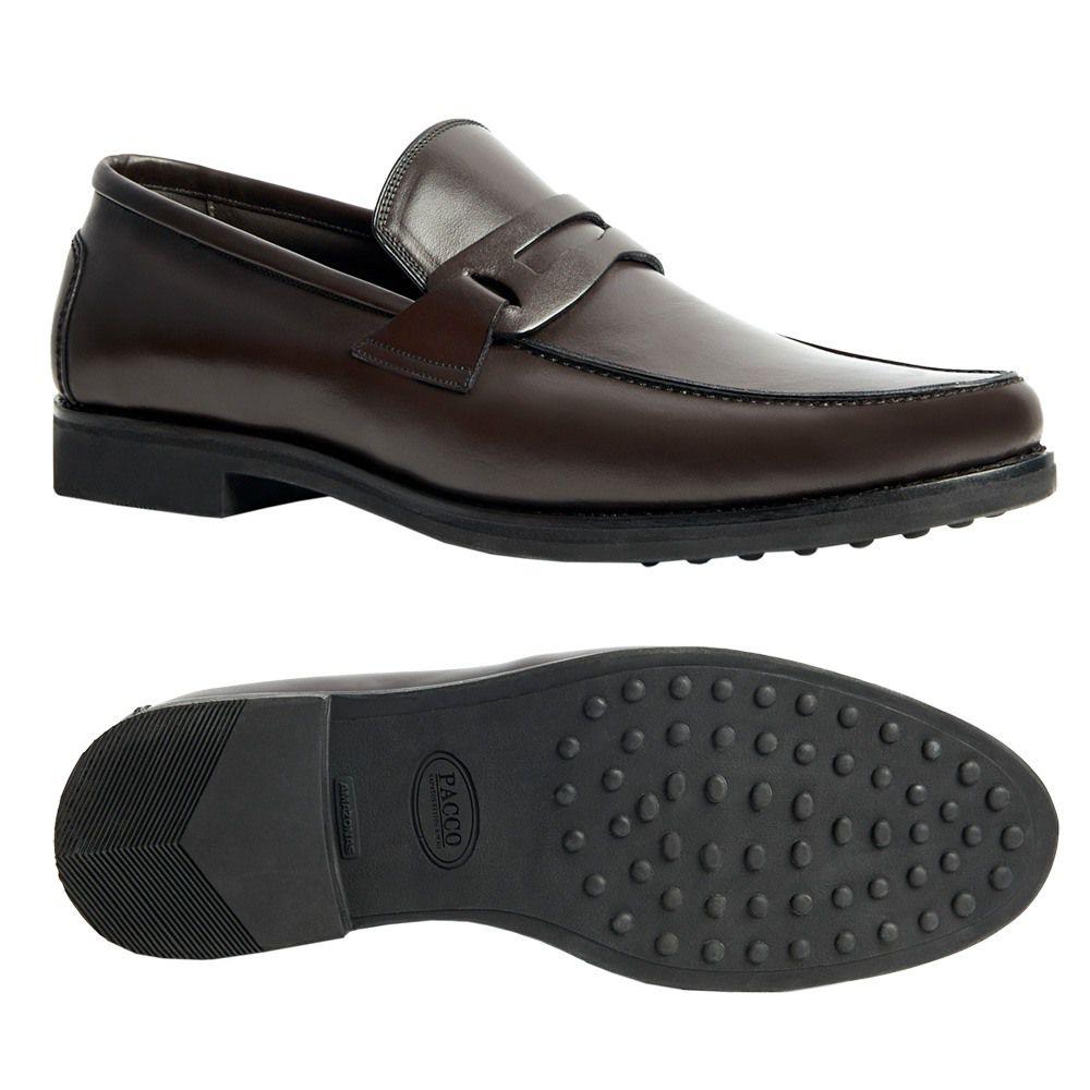 Sapato Masculino Penny Loafer Preto Sola de Borracha 111MB570CAF