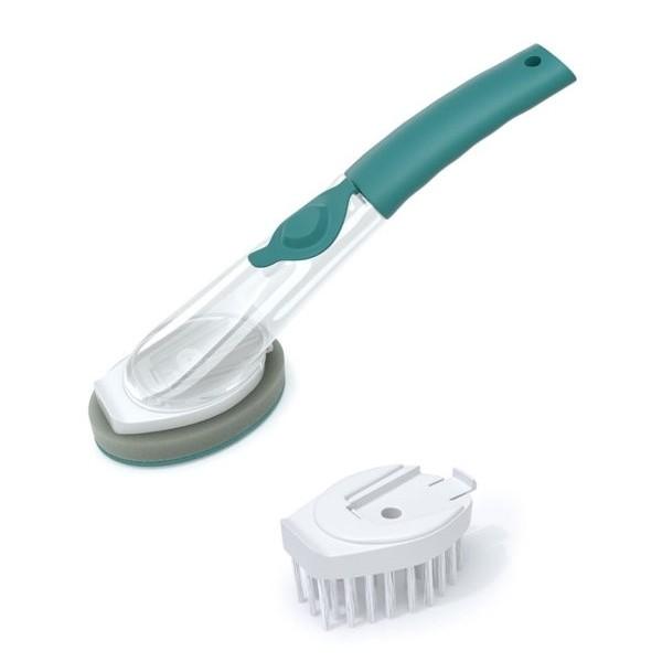 Conjunto Esponja E Escova Com Dispenser Flash Limp