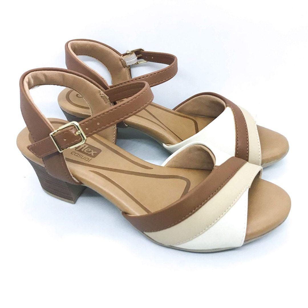Sandalia Salto Medio Comfortflex 1957404