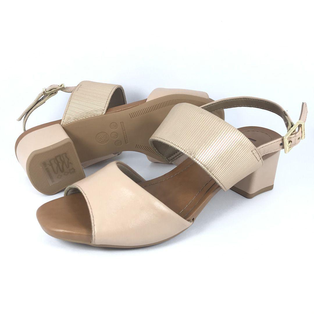 Sandalia Salto Medio Usaflex Ac4708