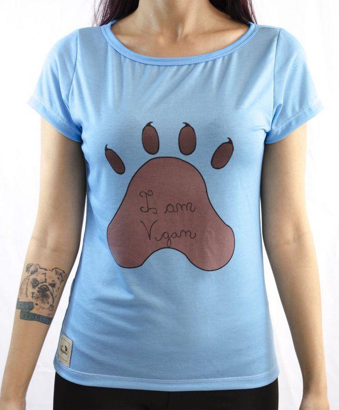 Baby look Vegano Shoes Amamélis Dog Azul