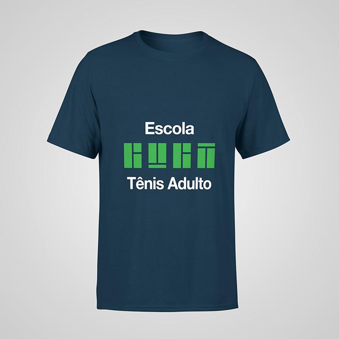 Camiseta Azul Night Tênis Adulto