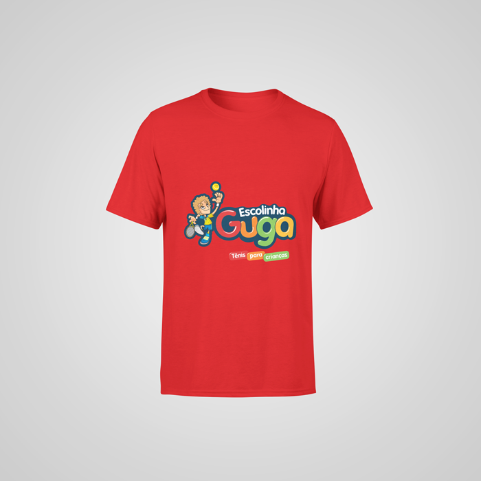 Camiseta Vermelha Escolinha Guga