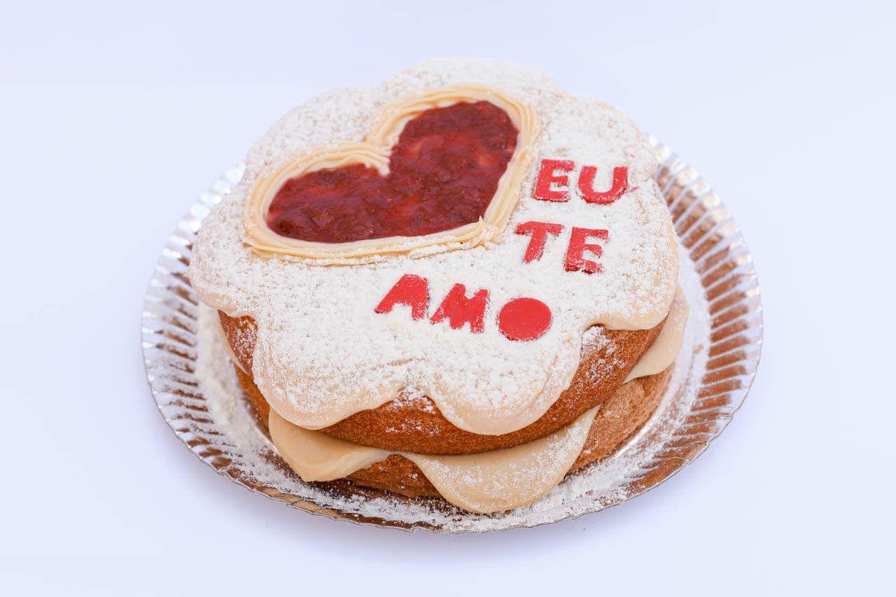 Naked Cake Eu te amo