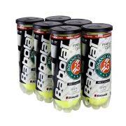 Bolas de Tênis Babolat Roland Garros All Court - Pack com 6 Tubos