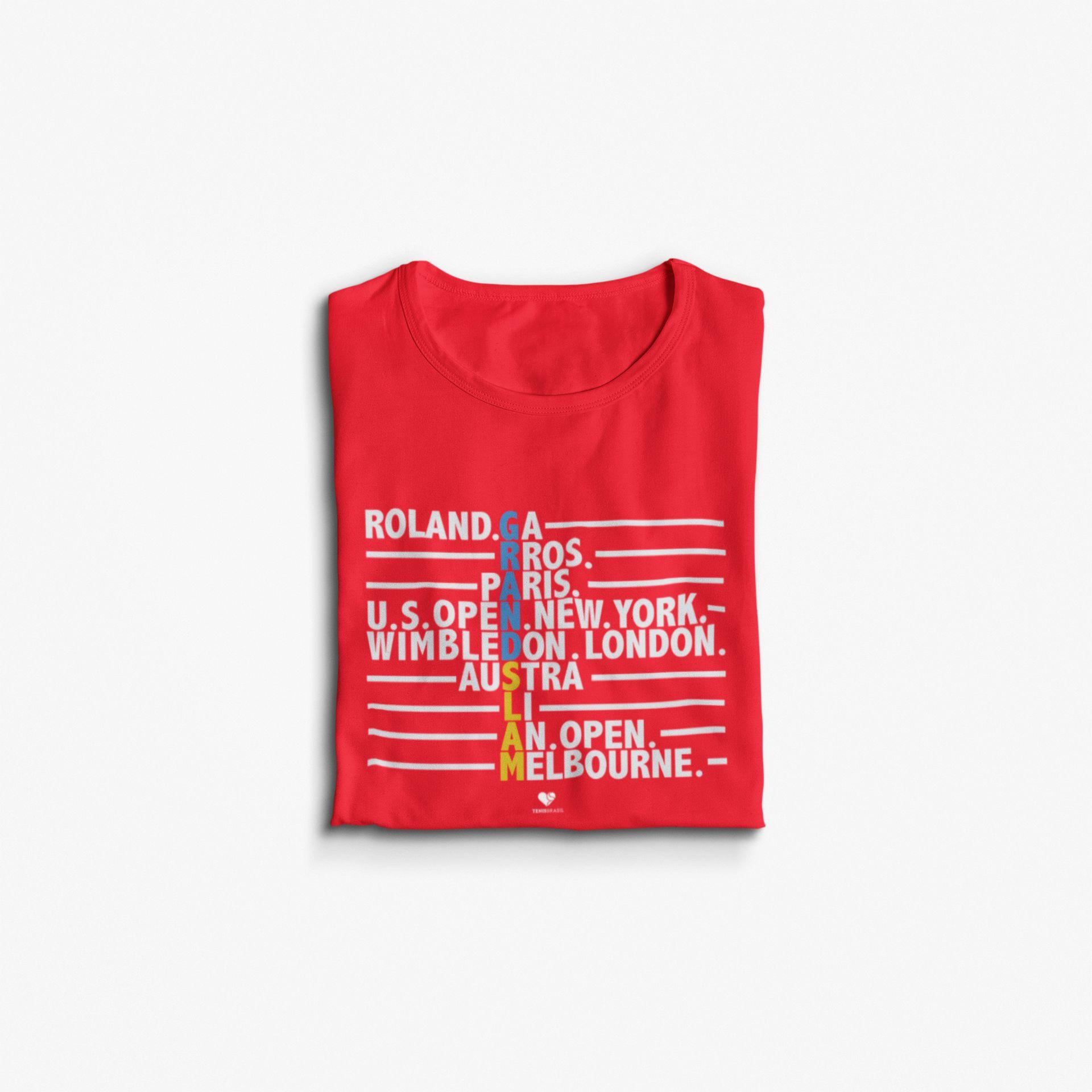 Camiseta GRAND SLAM ALL TYPE  >> Coleção 2019 >> FEMININA