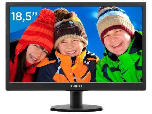Monitor Philips Led 18,5 1366x768 Widescreen Vesa 193v5lsb2