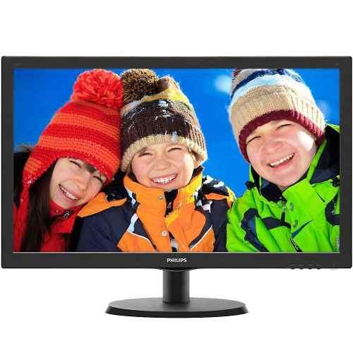 Monitor Philips Led 21,5 1920x1080 Full Hd Widescreen Preto