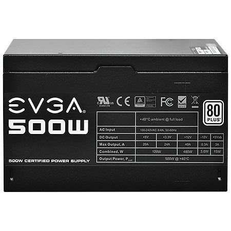 Fonte Atx 500w Real 80 Plus White Evga 100-w1-0500-kr