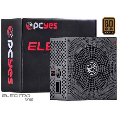 Fonte Atx 500w Real Electro V2 Series 80 Plus Bronze - Pcyes