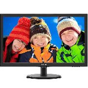 Monitor Philips Led 21,5 1920x1080 Full Hd Widescreen Preto