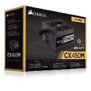 Fonte Corsair Atx Cx450m - 450w Semi Modlar 80 Plus Bronze