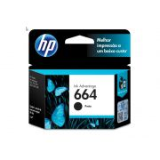 CARTUCHO DE TINTA INK ADVANTAGE HP F6V29AB HP 664 PRETO 2,0 ML