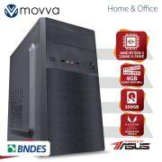 COMPUTADOR HYDRO AMD RYZEN 3 QUAD CORE 2200G 3.5GHZ MEM 4GB HD 500GB HDMI/VGA FONTE 200W LINUX-GRÁFICO INTEGRADO VEGA 8