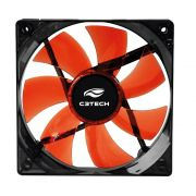 Cooler C3Tech para gabinete F7-L50RD 3 pinos 8x8x2,5cm vermelho