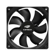 Cooler para Gabinete C3Tech F7-MB10BK 3 pinos 8x8x2,5cm preto