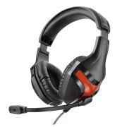 Fone de Ouvido Warrior PH101 com Microfone Headset Gamer Super Bass P2 Preto
