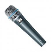 Microfone Dinâmico Pro BTM-57A Metal - Profissional com cabo 3 metros O.D.5.0 mm