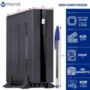 MINI COMPUTADOR INTEL I3-6100 3.7GHZ MB GIGABYTE H110TN-M MEM. 4GB DDR HD 500GB HDMI/DISPLAYPORT FONTE EXTERNA 60W