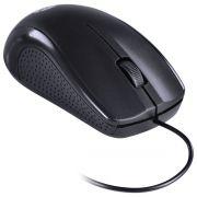 MOUSE ÓPTICO CORP 1000 DPI CABO USB 1.8M PRETO - CM100