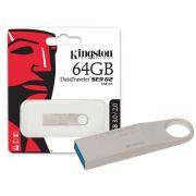 PEN DRIVE USB 3.0 KINGSTON DATATRAVELER SE9 G2 64GB PRATA