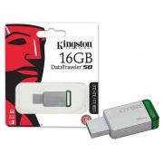 PEN DRIVE USB 3.1 KINGSTON DATATRAVELER 50 16GB METAL VERDE
