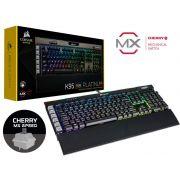 TECLADO GAMER COM FIO CORSAIR (34773-1) CH-9127014-BR K95 PLATINUM RETROILUMINACAO RGB TECLAS CHERRY MX SPEED