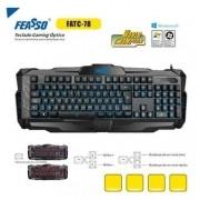 TECLADO USB GAMER FATC-78 PRETO FEASSO