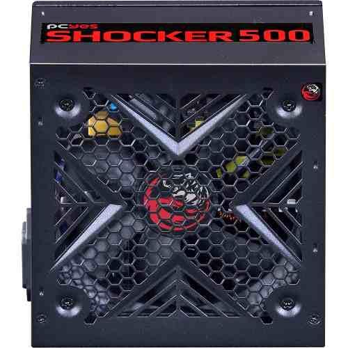 Fonte Atx Shocker Series 500w Real 80 Plus White - Pcyes