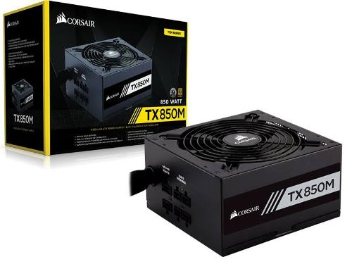 Fonte Corsair Atx Tx850m - 850w 80 Plus Gold Semi-modular