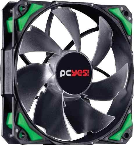Cooler Fan F4 Fury Pcyes 120mm Led Verde Para Gabinete Gamer