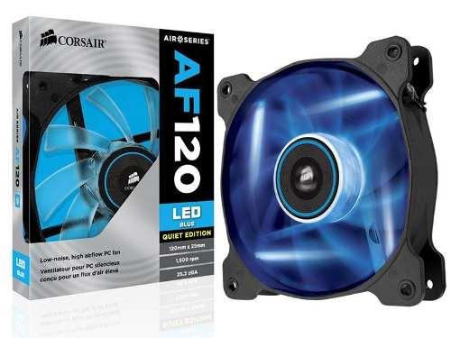 Cooler Fan P/ Gabinete Corsair Af120 Quiet Edition Led Azul