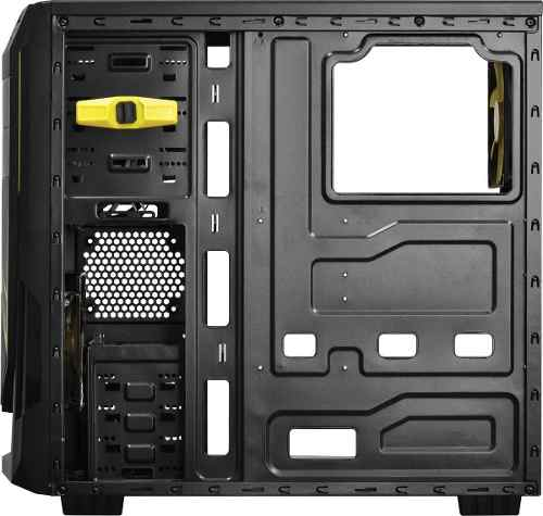 Gabinete Mid-tower Java Led Amarelo Lateral Acrílico Pcyes