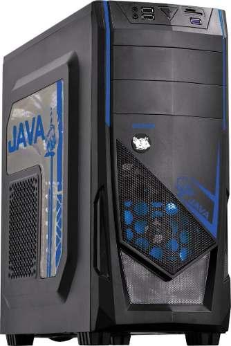 Gabinete Mid-tower Java Led Azul Lateral Em Acrílico Pcyes