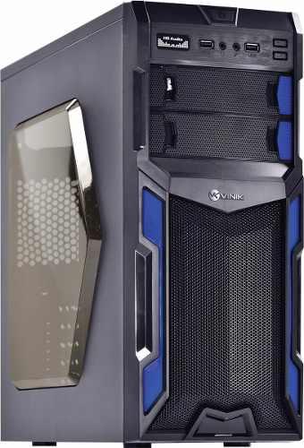 Gabinete Mid-tower Typhoon Vx Gamer Preto/azul Acrílic Vinik